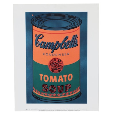 """Offset Lithograph After Andy Warhol """"Colored Campbell's Soup Can,"""" 21st Century"""