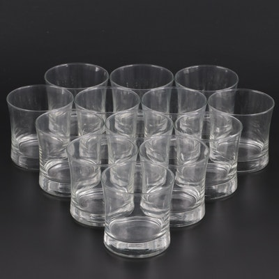 Handblown Flared Rim Double Old Fashioned Glasses, Contemporary
