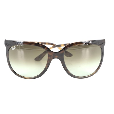 Ray-Ban RB4126 CATS 1000 Sunglasses in Tortoise with Green Lenses