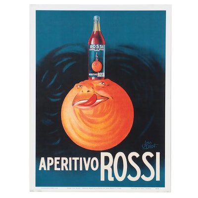 """Offset Lithograph after Jean Droit """"Aperitivo Rossi,"""" 21st Century"""