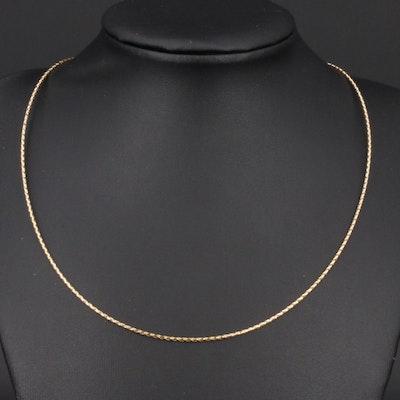 Italian 10K Braided Chain Necklace