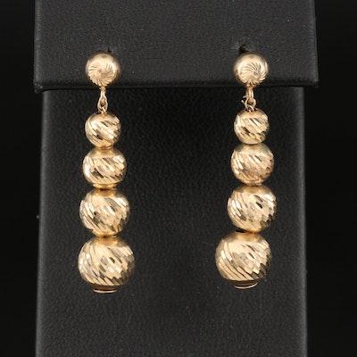 14K Graduated Bead Earrings