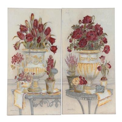 Kathryn White for Ballard Designs Floral Still Life Wall Decor