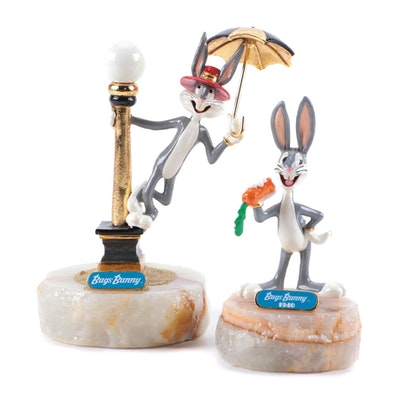 """Ron Lee Bugs Bunny """"Singing In The Rain"""" and """"Looney Tunes 1940""""  Statues"""