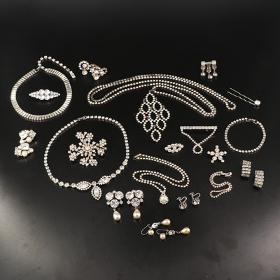 Vintage Rhinestone Jewelry Featuring Weiss, D'Vers and Austrian Crystal