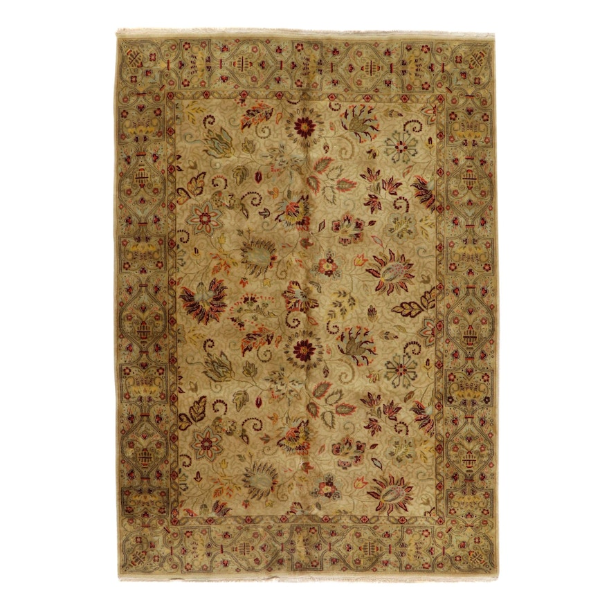6'5 x 9'5 Hand-Knotted Indo-Persian Tabriz Area Rug