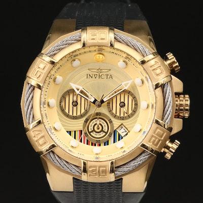 """Star Wars C-3PO"" Invicta Chronograph Stainless Steel Wristwatch"
