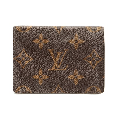 Louis Vuitton Enveloppe Carte de Visite in Monogram Canvas