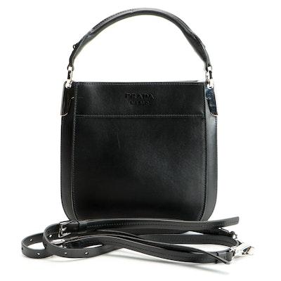Prada Margit Small Bag in Black Calfskin Leather