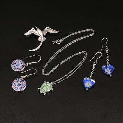 Sterling Silver Jewelry Selection Featuring Millefiori Designs