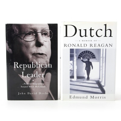 """Signed """"Dutch"""" by Edmund Morris and """"Republican Leader"""" by John David Dyche"""