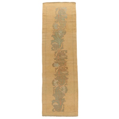 3'4 x 11'5 Hand-Knotted  Pictorial Foliate Long Rug