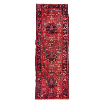 3'2 x 9'5 Hand Knotted Persian Pictorial Long Rug