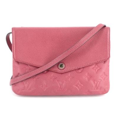 Louis Vuittion Twinset Crossbody Bag in Monogram Dahlia Empreinte Leather