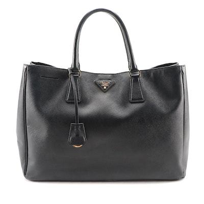 Prada Large Tote Bag in Black Saffiano Leather