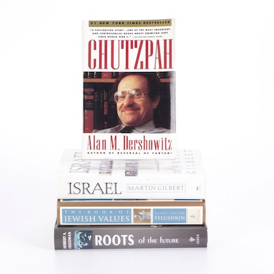 """Signed """"Chutzpah"""" by Alan M. Dershowitz and More Jewish History Books"""