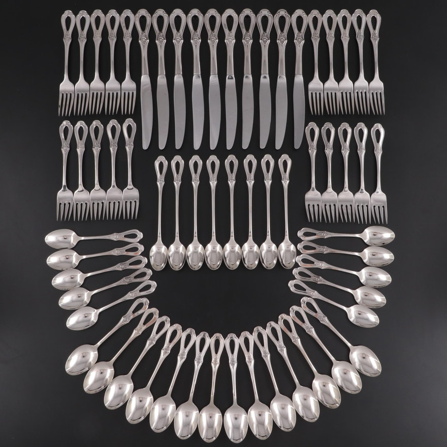 """Oneida """"Toujours"""" Stainless Steel Flatware, Late 20th Century"""