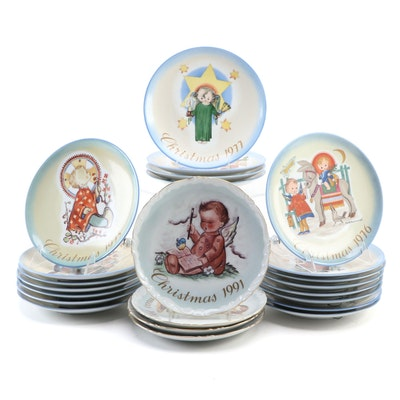 Schmid Bros. Ceramic Christmas Plates, Late 20th Century