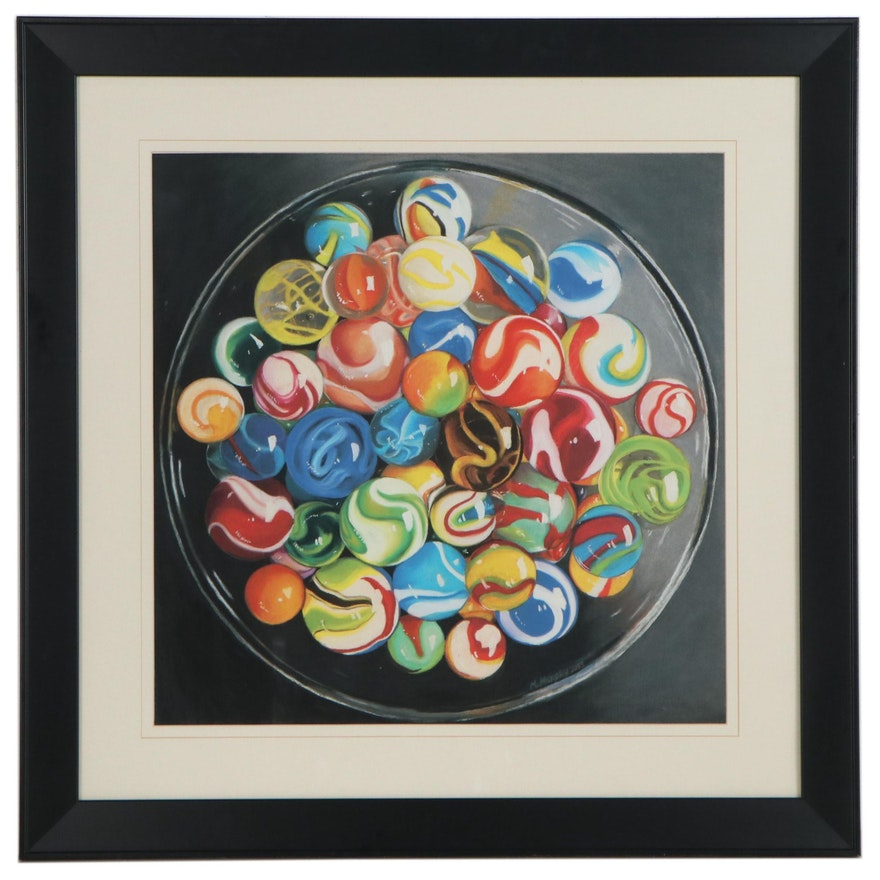 """Michele Murphy Giclée """"Life is a Bowl of Marbles,"""" Circa 2013"""