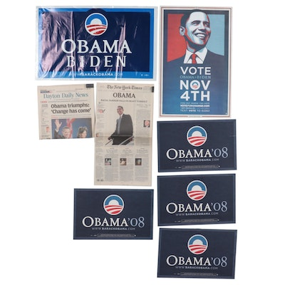 Obama and Biden Presidential Campaign Signs, Posters, and Ephemera, 2008