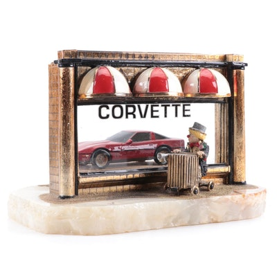 "Ron Lee ""If I Were A Rich Man"" Clown Red Corvette Limited Edition Sculpture"