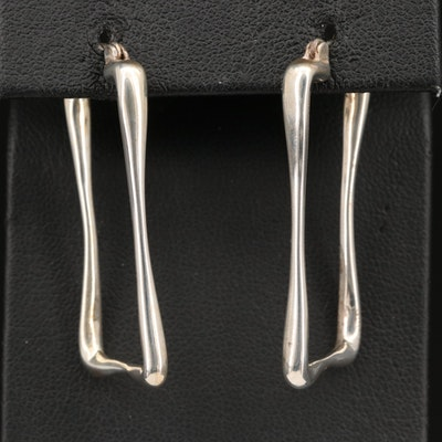 Robert Lee Morris Studio Sterling Rectangular Drop Earrings