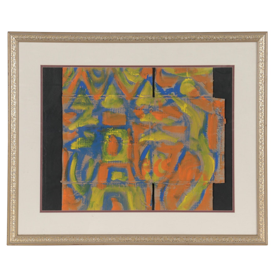 Miklós Németh Abstract Oil Painting of Houses