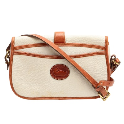 Dooney & Bourke Equestrian Crossbody in White All-Weather Leather