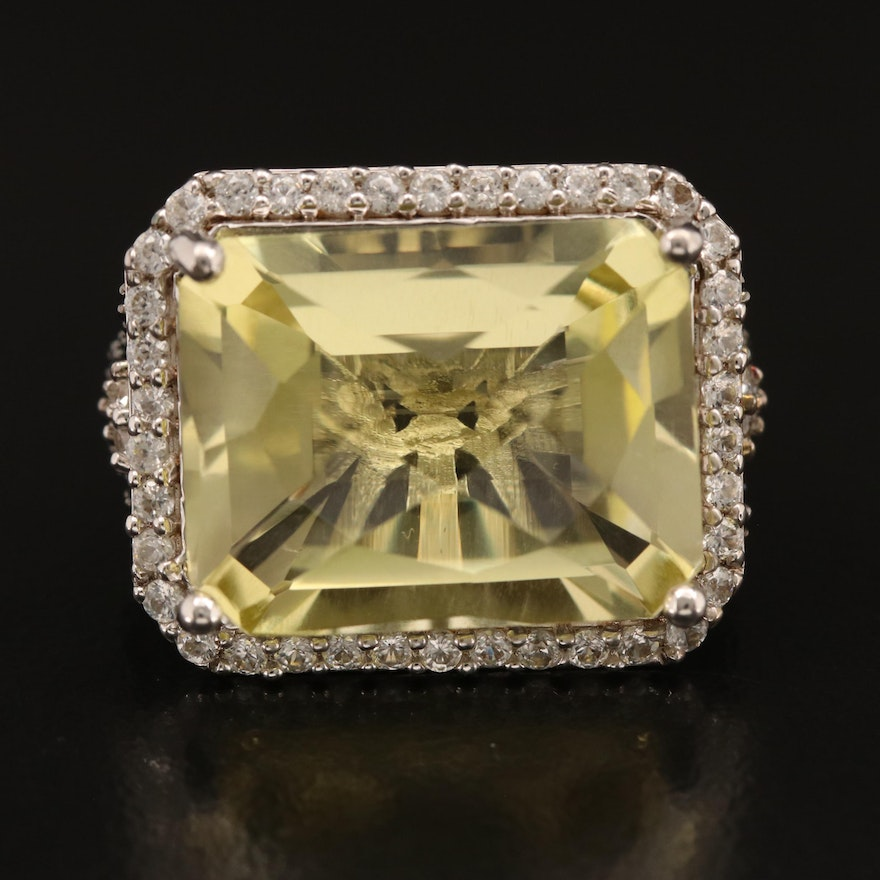 Sterling Citrine, Zircon and Spinel Ring