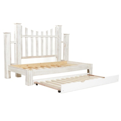 Acme Furniture Picket Fence Style Twin Day Bed Frame with Trundle