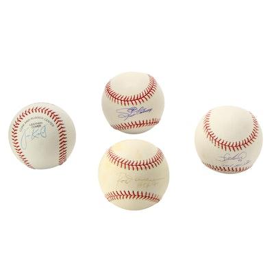 Jim Katt, Francisco Liriano, Rod Carew, and Joe Nathan Signed Baseballs