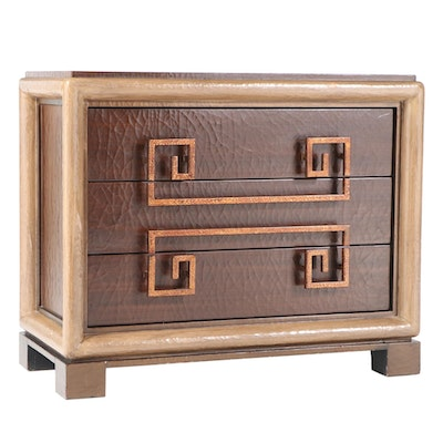 The Platt Collections Crackle-Painted Three-Drawer Chest