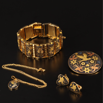 Floral Niello Select Jewelry