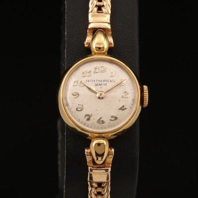Vintage Patek Philippe 18K Yellow Gold Stem Wind Wristwatch
