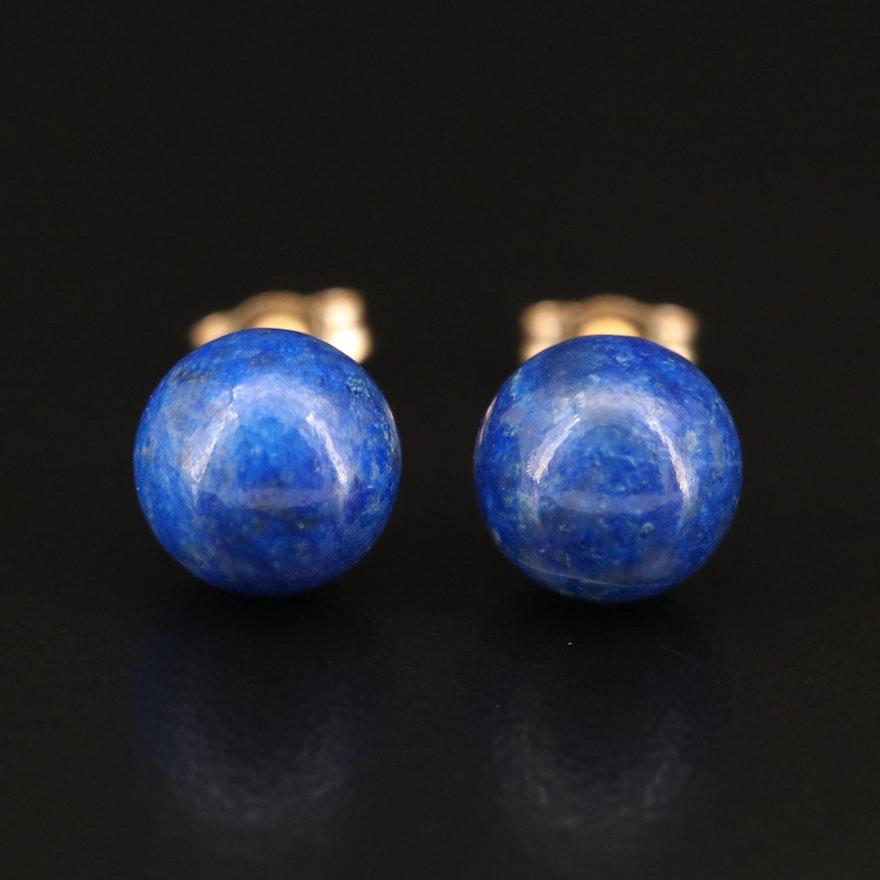 14K Lapis Lazuli Stud Earrings