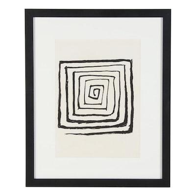"""Alexander Calder Lithographic Print for """"Derrière le Miroir,"""" 1971"""