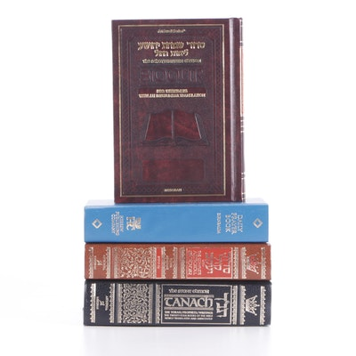 "Religious Books Including ""Complete Artscroll Siddur"" and ""Ha-Suddur Ha-Shalem"""