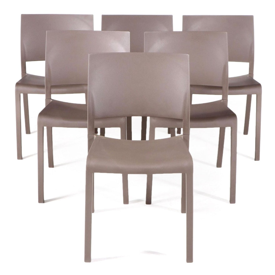 """Six Josep Lluscà for Dd """"Fiona"""" Polypropylene Stacking Side Chairs"""