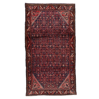 4'11 x 9'1 Hand-Knotted Persian Herati Area Rug