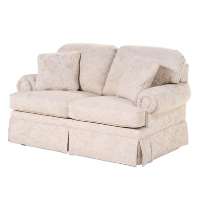 La-Z-Boy Floral-Upholstered Roll-Arm Loveseat, Late 20th Century