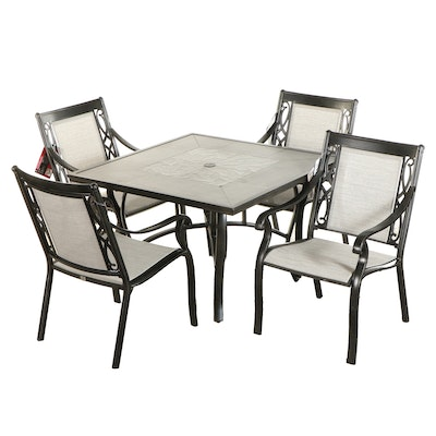 Sunbrella Five-Piece Patio Table and Chairs
