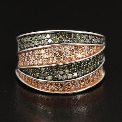 Sterling Diamond Pavé Ring