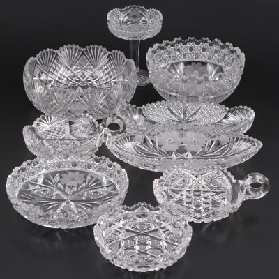 American Brilliant Style Cut Glass Tableware, Late 19th to Early 20th Century