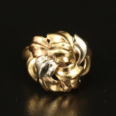 Italian 18K Foliate Ring