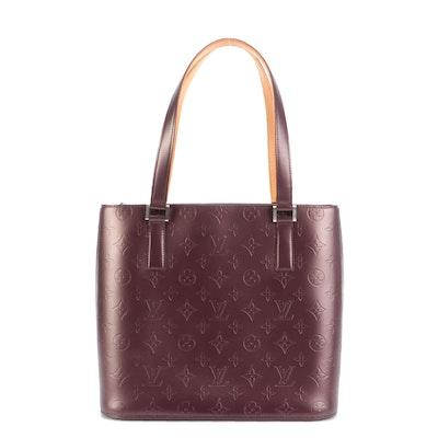 Louis Vuitton Stockton Tote in Violet Monogram Mat Leather