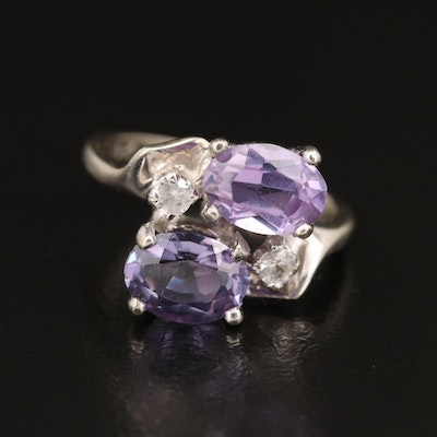 10K Sapphire and Spinel Bypass Ring