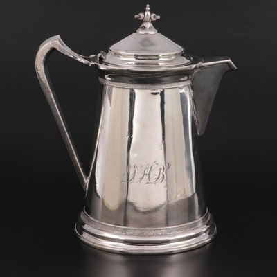 Victorian Silver Plate Iced Water Pitcher, Late 19th Century