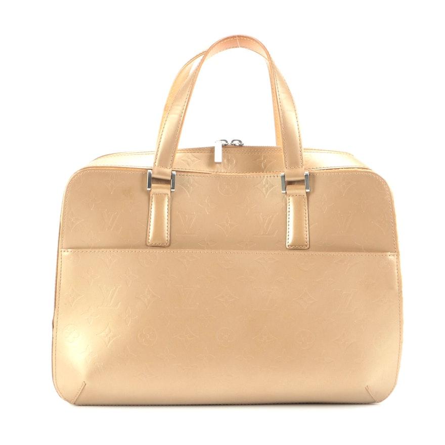 Louis Vuitton Malden Top Handle Bag in Mat Gold Monogram and Vachetta Leather