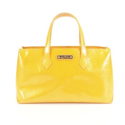 Louis Vuitton Wilshire PM in Jaune Passion Monogram Vernis Leather