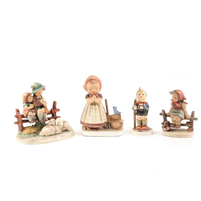 """Goebel Hummel """"Eventide"""", """"Just Resting"""" and """"Little Hiker"""" with Other Figurine"""